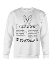 Yorkies - Sock Stealing Doorbell Dancing Bed Hog Crewneck Sweatshirt thumbnail