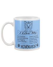 Yorkies - Sock Stealing Doorbell Dancing Bed Hog Mug back
