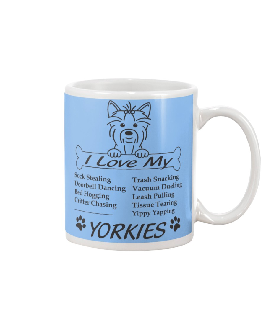 Yorkies - Sock Stealing Doorbell Dancing Bed Hog Mug