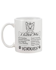 Yorkies - Sock Stealing Doorbell Dancing Bed Hog Mug back