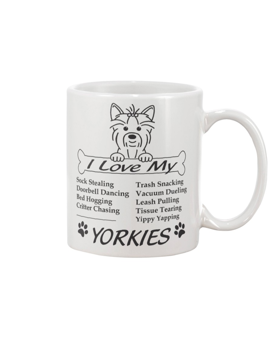 Yorkies - Sock Stealing Doorbell Dancing Bed Hog Mug