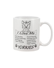 Yorkies - Sock Stealing Doorbell Dancing Bed Hog Mug front