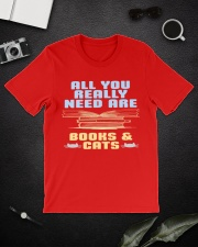 All you really need are BOOKS CATS Classic T-Shirt lifestyle-mens-crewneck-front-16