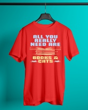 All you really need are BOOKS CATS Classic T-Shirt lifestyle-mens-crewneck-front-3