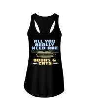 All you really need are BOOKS CATS Ladies Flowy Tank thumbnail