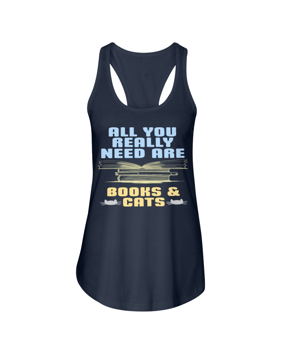 All you really need are BOOKS CATS Ladies Flowy Tank