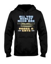 All you really need are BOOKS CATS Hooded Sweatshirt thumbnail