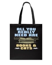 All you really need are BOOKS CATS Tote Bag thumbnail