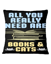 All you really need are BOOKS CATS Square Pillowcase thumbnail
