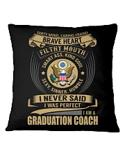 Graduation Coach 3 Square Pillowcase thumbnail