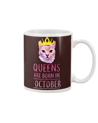 October Queens Cat Are Born In T Shirt Hoodie
