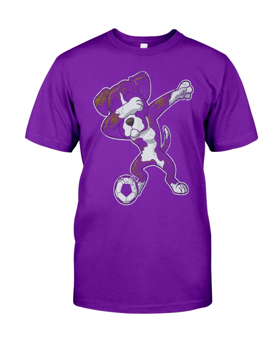 Dabbing Futbol Soccer Boxer Dog Classic T-Shirt showcase