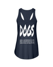 Dogs Because People Suck Ladies Flowy Tank front