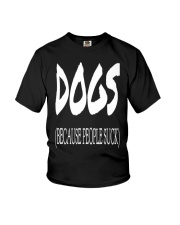 Dogs Because People Suck Youth T-Shirt thumbnail