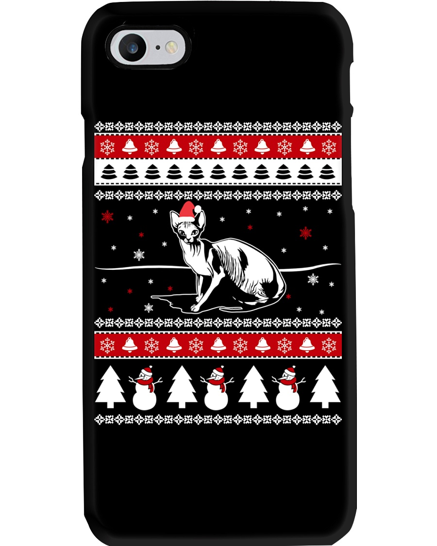 Sphynx Cat Ugly Christmas Sweaters Phone Case