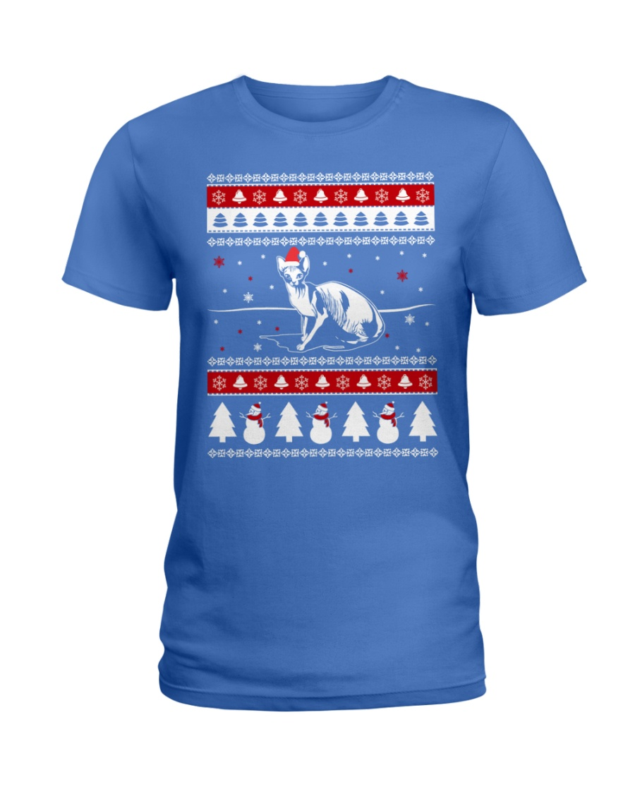 Sphynx Cat Ugly Christmas Sweaters Ladies T-Shirt
