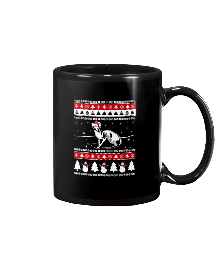Sphynx Cat Ugly Christmas Sweaters Mug
