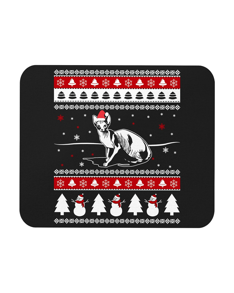 Sphynx Cat Ugly Christmas Sweaters Mousepad