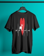Daschund Lovers Heartbeat Dog Gift T-Shirt Classic T-Shirt lifestyle-mens-crewneck-front-3