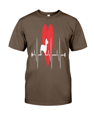 Daschund Lovers Heartbeat Dog Gift T-Shirt