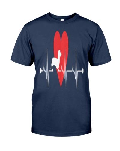 Daschund Lovers Heartbeat Dog Gift T-Shirt