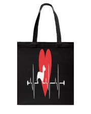 Daschund Lovers Heartbeat Dog Gift T-Shirt Tote Bag thumbnail