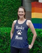 Dog Husky Mom Shirts HUSKY MOM Ladies Flowy Tank lifestyle-bellaflowy-tank-front-2
