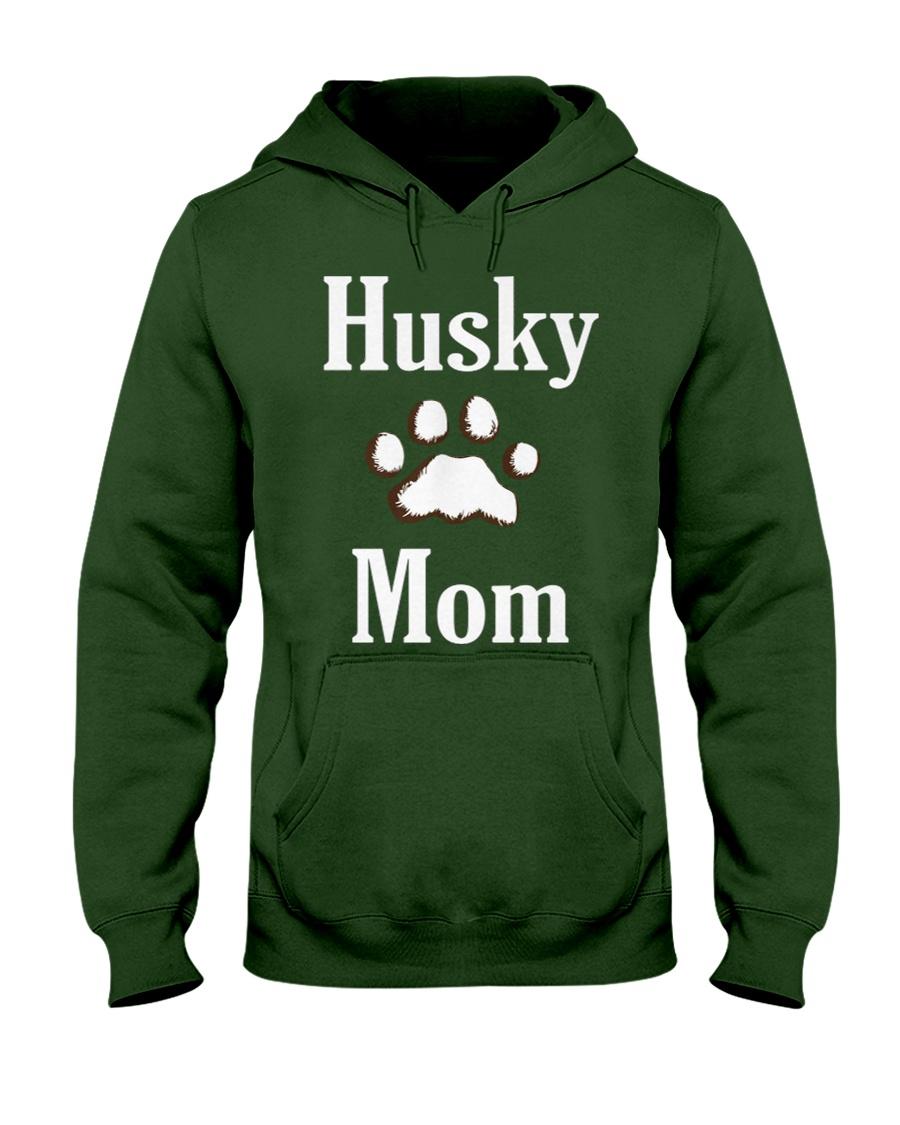 Dog Husky Mom Shirts HUSKY MOM Hooded Sweatshirt