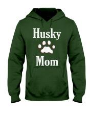 Dog Husky Mom Shirts HUSKY MOM Hooded Sweatshirt front