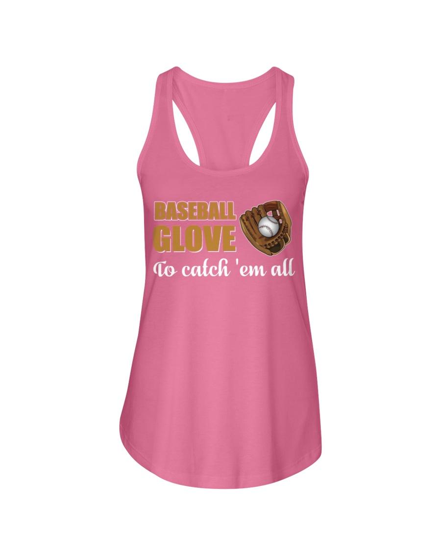 Baseball Shirt Baseball Glove To catch Em All  Ladies Flowy Tank
