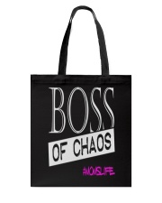 Mothers Day Boss Of Chaos Mom Apparel Tote Bag thumbnail