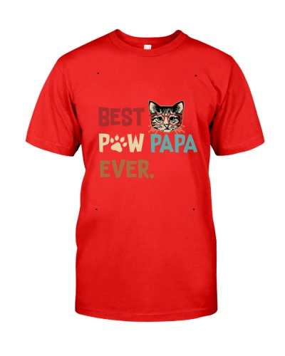 Cat Paw T Shirt Best Paw PaPa Ever