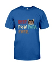 Cat Paw T Shirt Best Paw PaPa Ever Classic T-Shirt front