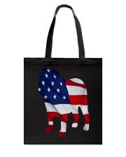 Patriotic Bulldog Tank Top Tote Bag thumbnail