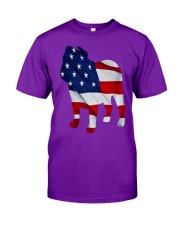 Patriotic Bulldog Tank Top Classic T-Shirt front
