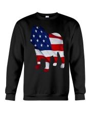Patriotic Bulldog Tank Top Crewneck Sweatshirt thumbnail