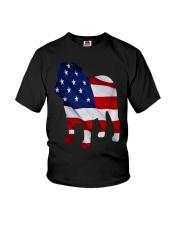 Patriotic Bulldog Tank Top Youth T-Shirt thumbnail
