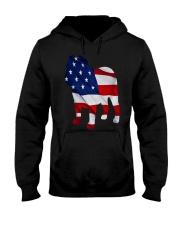 Patriotic Bulldog Tank Top Hooded Sweatshirt thumbnail