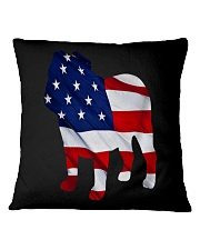 Patriotic Bulldog Tank Top Square Pillowcase thumbnail