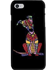 Colorful Funny Greyhound Dog Abstract Art Phone Case thumbnail