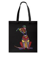Colorful Funny Greyhound Dog Abstract Art Tote Bag thumbnail