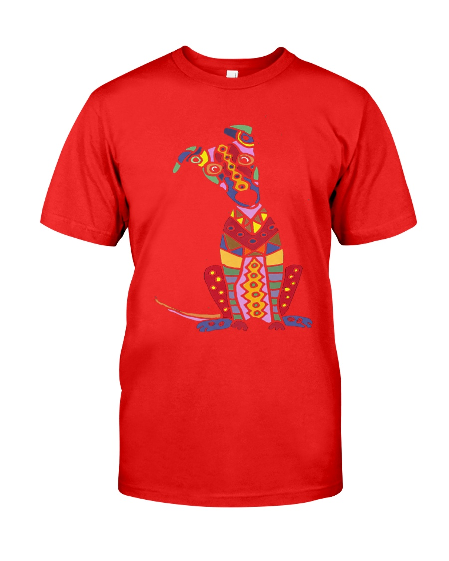 Colorful Funny Greyhound Dog Abstract Art Classic T-Shirt