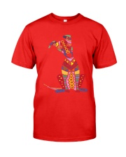 Colorful Funny Greyhound Dog Abstract Art Classic T-Shirt front
