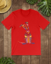 Colorful Funny Greyhound Dog Abstract Art Classic T-Shirt lifestyle-mens-crewneck-front-18