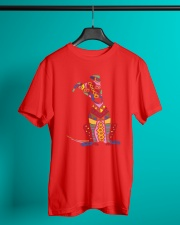 Colorful Funny Greyhound Dog Abstract Art Classic T-Shirt lifestyle-mens-crewneck-front-3