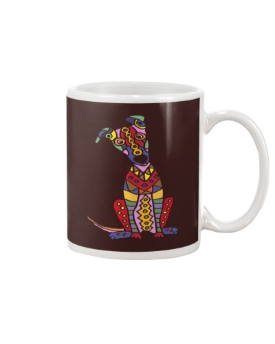 Colorful Funny Greyhound Dog Abstract Art