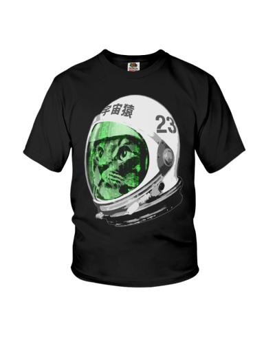 Astronaut Space Cat green screen version