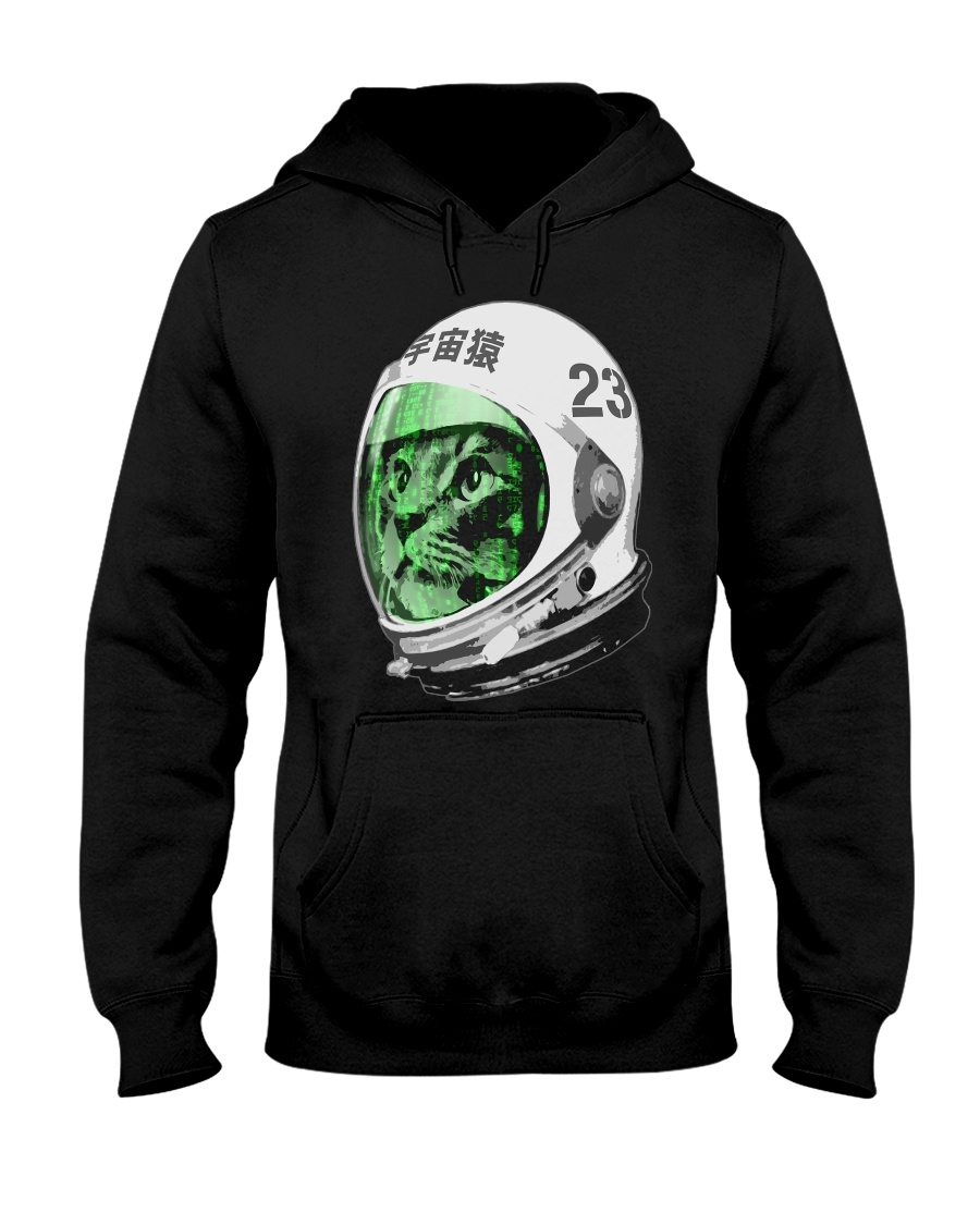 Astronaut Space Cat green screen version Hooded Sweatshirt