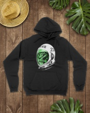 Astronaut Space Cat green screen version Hooded Sweatshirt lifestyle-unisex-hoodie-front-7
