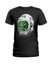Astronaut Space Cat green screen version Ladies T-Shirt thumbnail